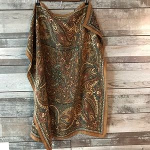 Scarf brown paisley very soft